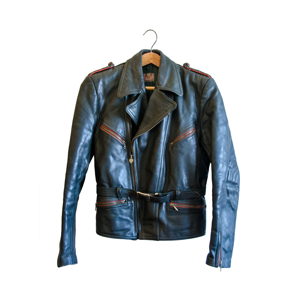 the best attitude 665cf 72615 Giacca di pelle vintage anni '55 Haelson