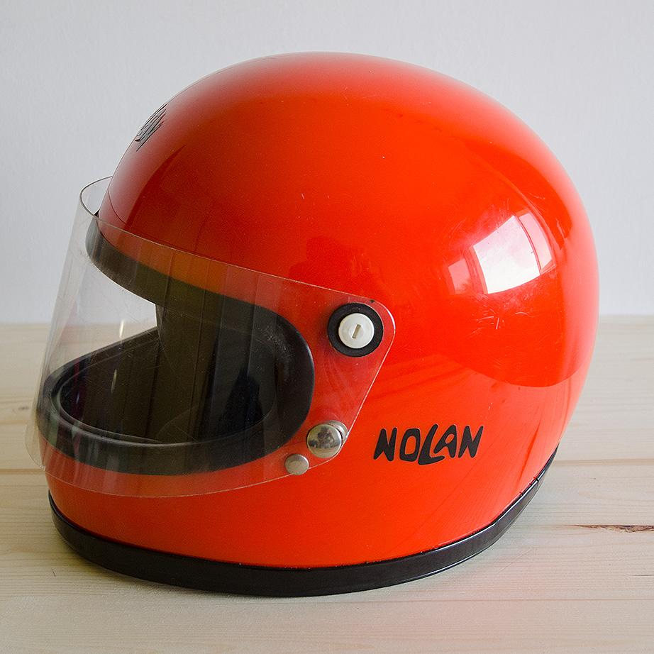 Casco Vintage Moto Nolan Casco Integrale Originale Anni 70