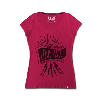 T-shirt Cafè Racer Donna Love Hate