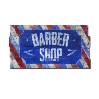 Barber Shop Wood Sign
