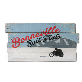 Boneville Salt Flats Wood Sign