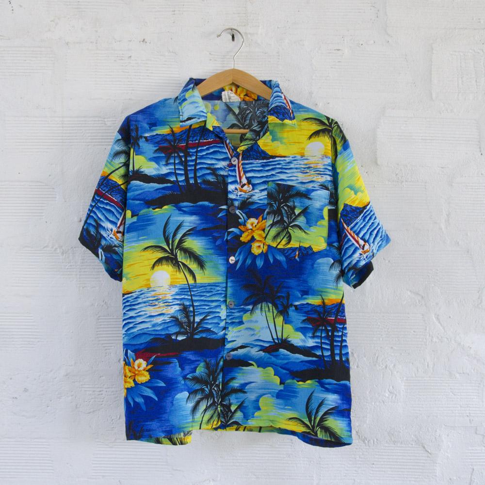 big sale 37ddd 9eb97 Camicia Hawaiana Vintage Carmens