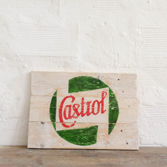 Castrol Vintage Wood Sign
