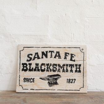 Santa Fe Blacksmith vintage sign