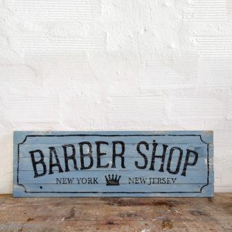 Barber Shop Wood Sign Insegna