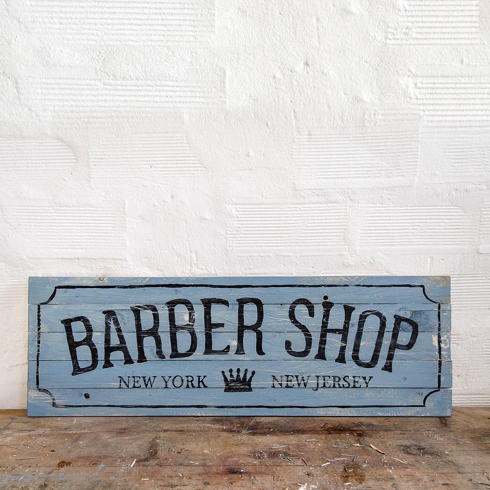Barber shop wood signs insegna barbiere in legno for Arredamento barbiere vintage
