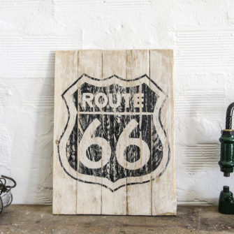 Insegna Wood Panel Route 66