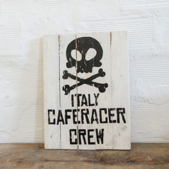 Italy Caferacer Crew Wood Sign
