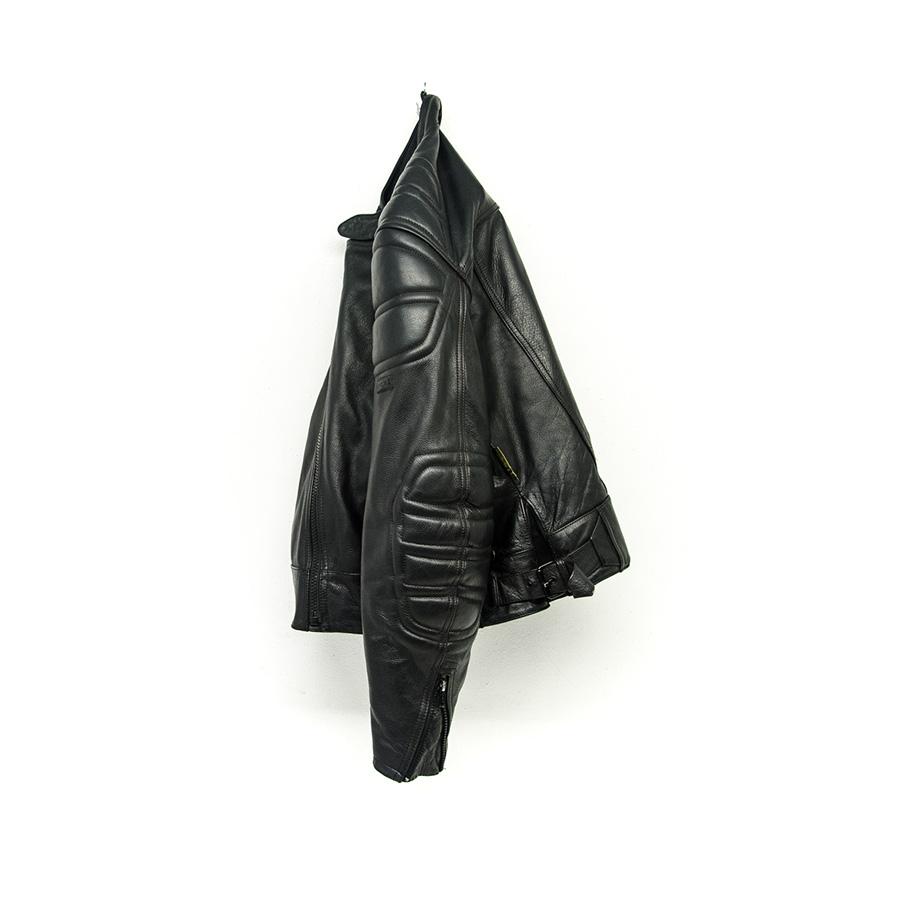Giubbotto Pelle Moto Polo Vintage Motorcycle Leather Jacket