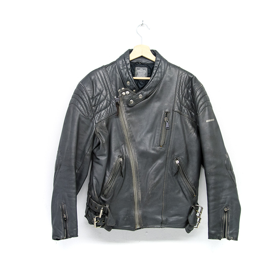 Giubbotto Moto Harro Vintage Grigio Motorcycle Leather Jacket