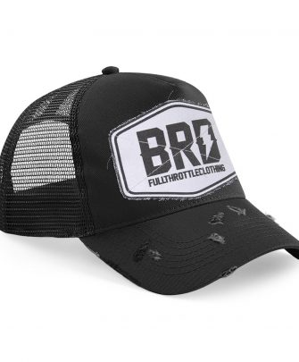Trucker Cap BRD Fullthrottleclothing White