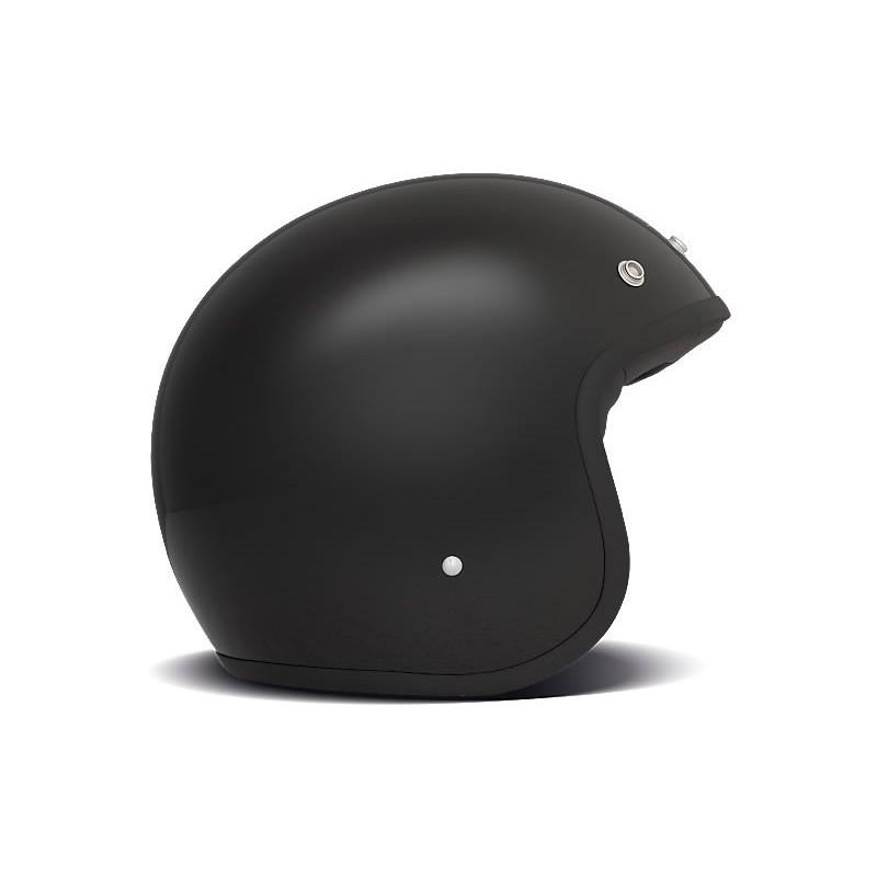 Casco Jet DMD Vintage SOLID BLACK - Nero Lucido