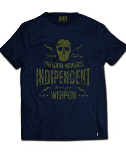 T-shirt Cafe Racer Freedom Maniacs Blue