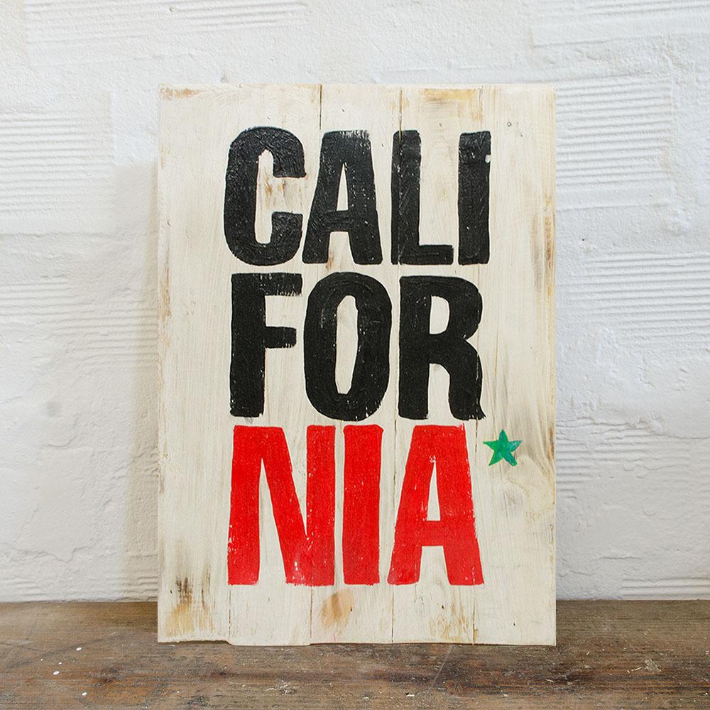 California wood sign