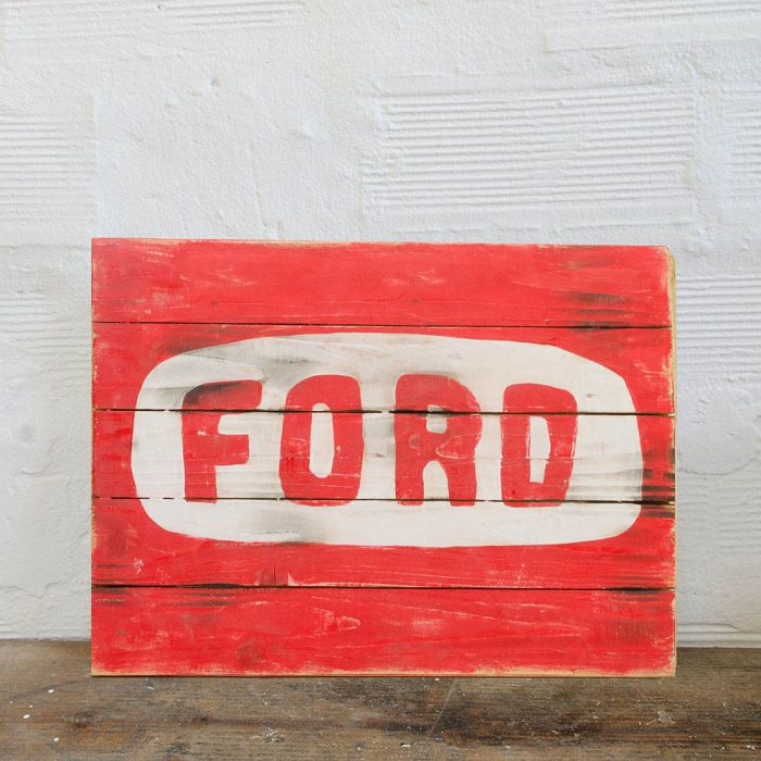 Ford Motor Company Wood Sign