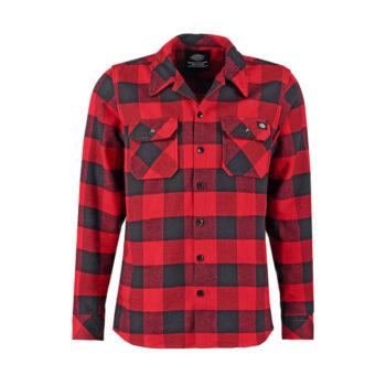 Camicia Flanella Dickies Sacramento Rossa e Nera