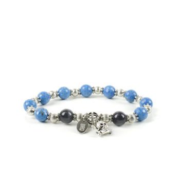 Gemstones Bracciale Pietre Dure Agata Azzurra Sfaccettata