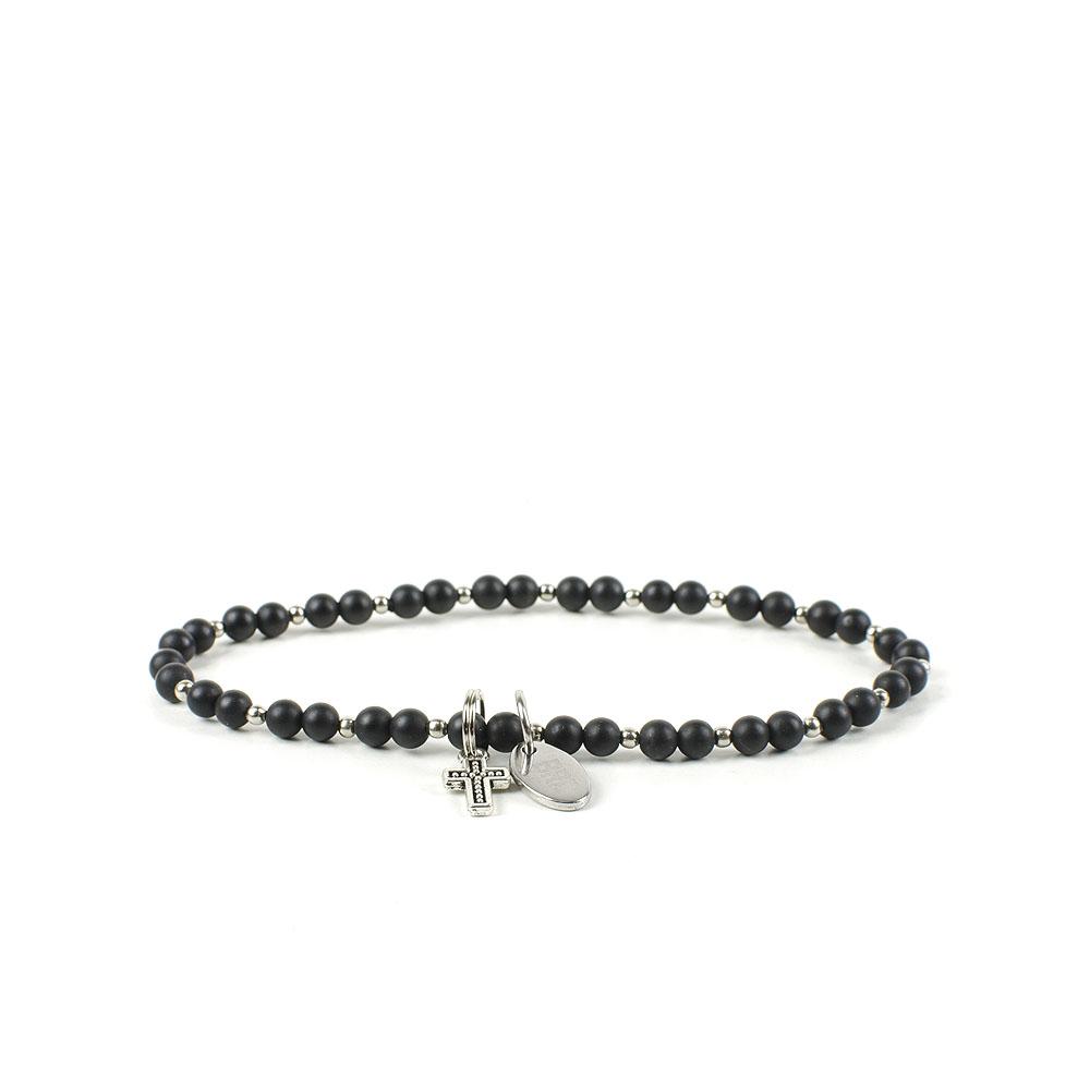 Gemstones Bracciale Pietre Dure Agata Black Matte