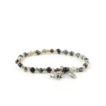 Gemstones Bracciale Pietre Dure Agata Black Stripe