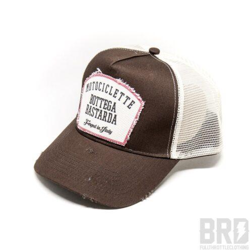 Cappellino Vintage Trucker Cap Motociclette Bottega Bastarda Brown