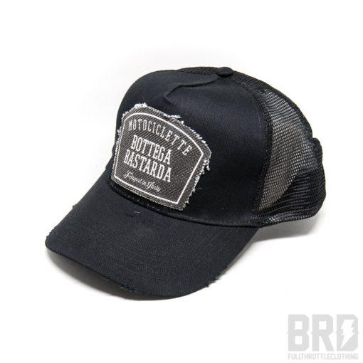 Cappellino Vintage Trucker Cap Bottega Bastarda Black