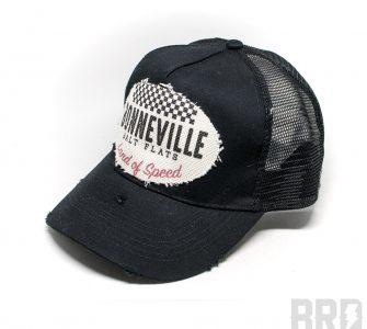 Cappellino Vintage Trucker Cap Bonneville Salt Flats Nero Bianco