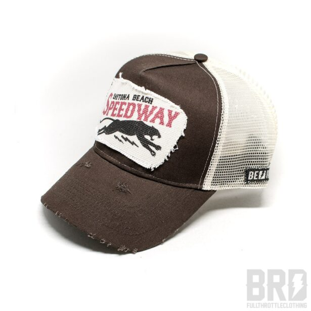Cappellino Trucker Cap Speedway Daytona Beach Marrone