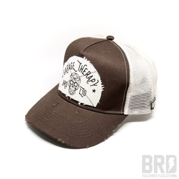 Cappellino Vintage Trucker Cap Garage Therapy Brown