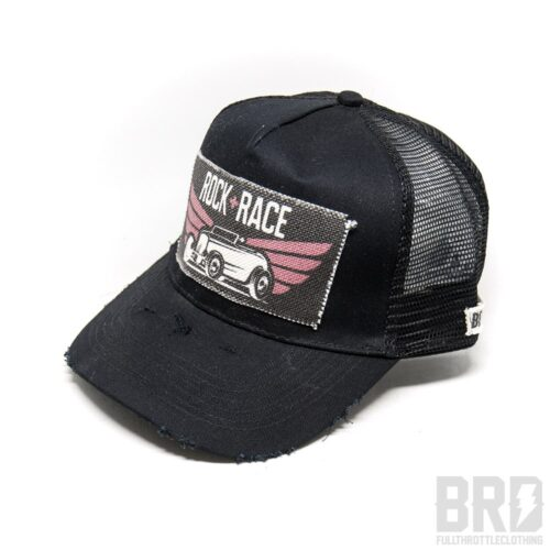 Cappellino Vintage Trucker Cap Rock Race Black