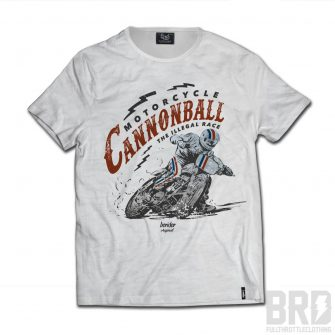 T-shirt Slub Cafe Racer Cannonball Illegal Race