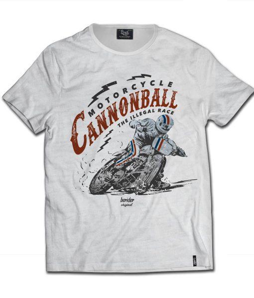 T-shirt Slub Cafe Racer Cannonball Illegal Race
