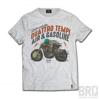 T-shirt Slub Cafè Racer Quattro Tempi Air & Gasoline