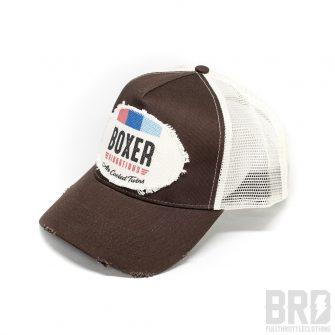 Cappellino Vintage Trucker Cap Flat Boxer Vibrations Brown
