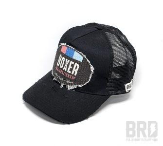 Cappellino Vintage Trucker Cap Flat Boxer Vibrations Black