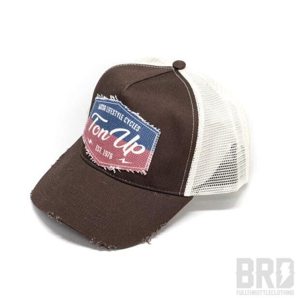 Cappellino Vintage Trucker Cap Ton Up Brown