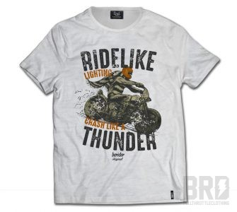 T-shirt Cafe Racer Ride Like Thunder