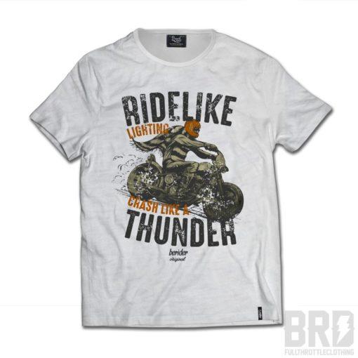 T-shirt Cafe Racer Ride Like Thunder