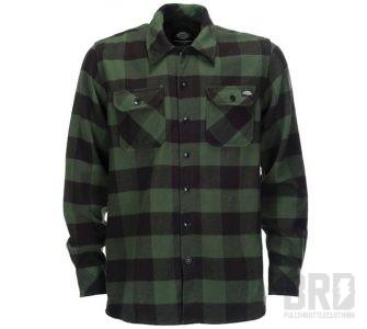 Camicia Flanella Dickies Sacramento Verde e Nera