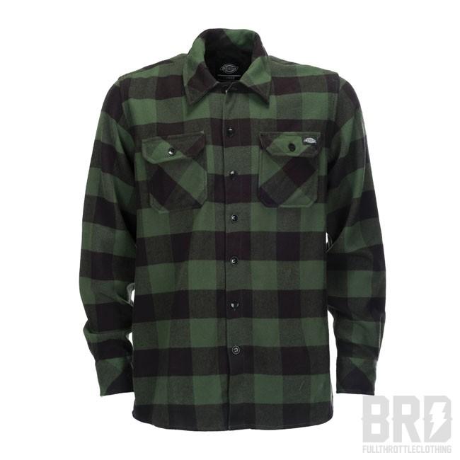 sale retailer 9b335 080bd Camicia Flanella Dickies Sacramento Verde e Nera