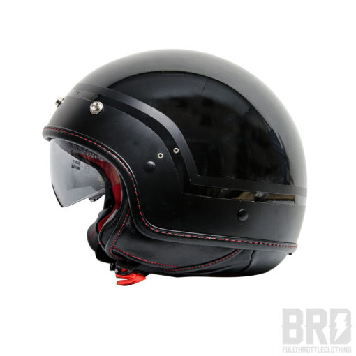 Casco Demi Jet Twins Nero Lucido