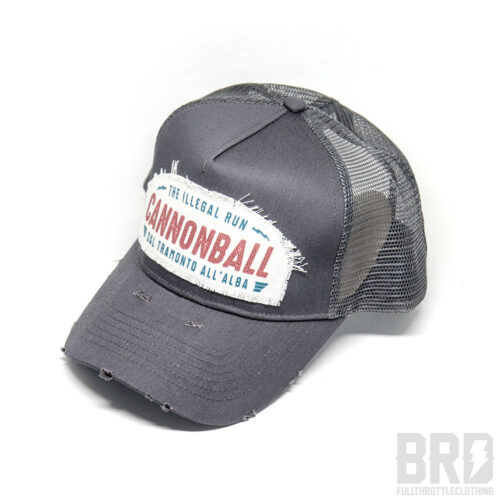 Cappellino Vintage Trucker Cap Cannonball Grey