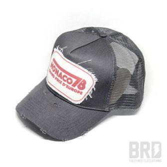 Cappellino Vintage Trucker Cap Monaco 78 Grey
