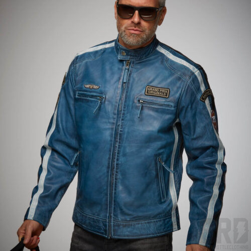Giacca-Pelle-Classic-Racer-Blue