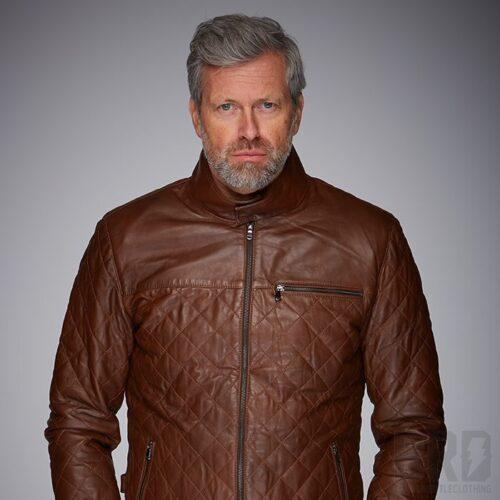 Giacca Pelle Uomo Belrose Cognac