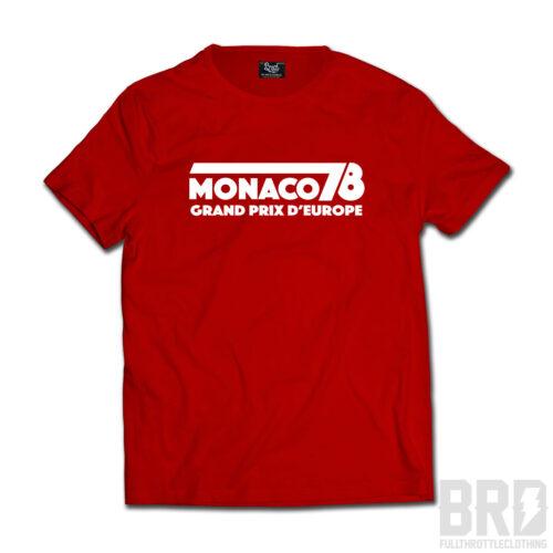 T-shirt Monaco 78 Grand Prix d'Europe Red