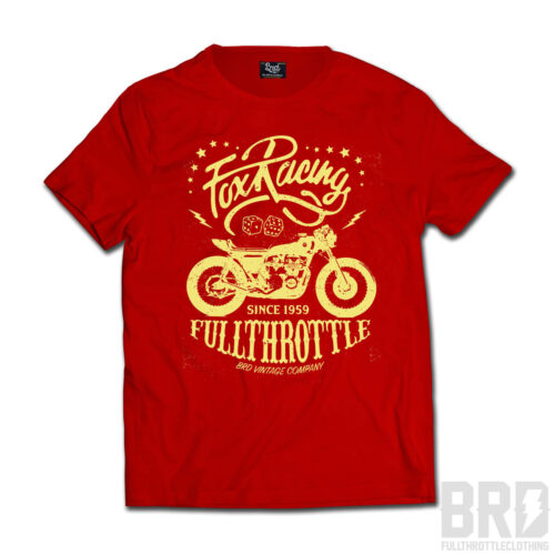 T-shirt Fox Racing Fullthrottle Red