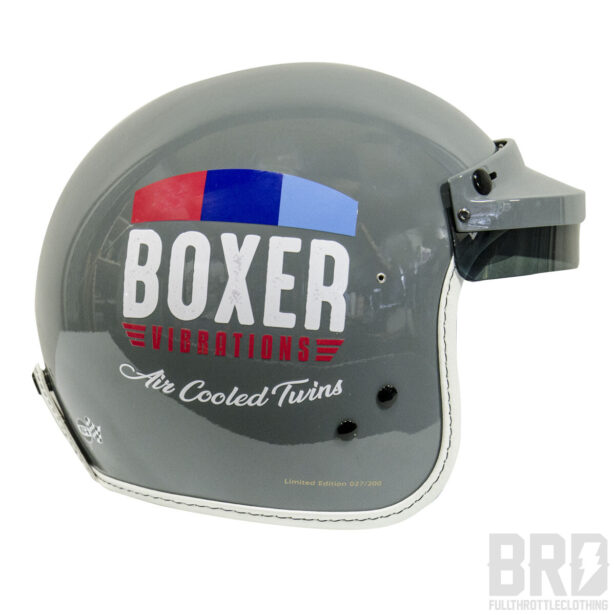Casco Jet Boxer Vibrations Vintage Grey Edition