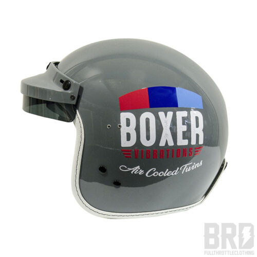 Casco Jet Boxer Vibrations Vintage Grey Edition
