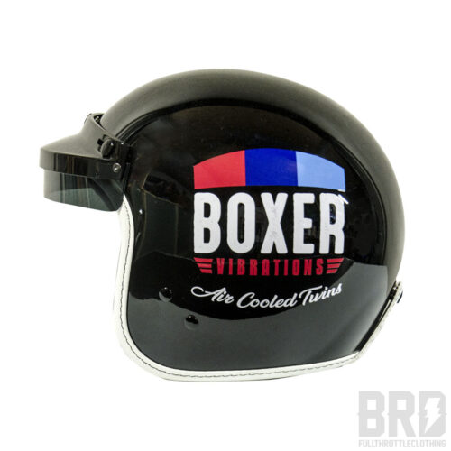 Casco Jet Boxer Vibrations Vintage Black Edition