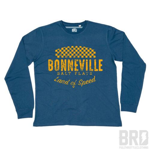 T-shirt Manica Lunga Bonneville Salt Flats Navy